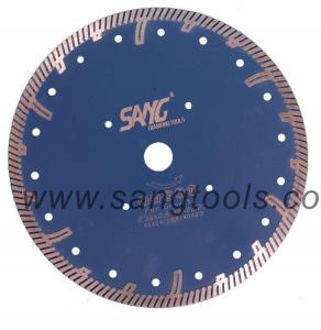 Continuous Turbo Rim Granite Undercut Saw Blade with Protect Teeth