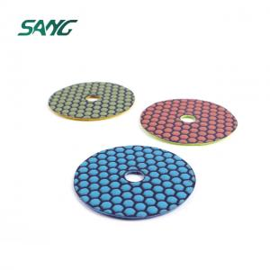 4 Inch Granite Diamond Stone Dry Polishing Pads for Marble