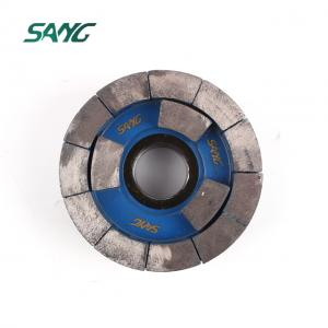 Diamond satellite calibrating wheels for grinding stone slab